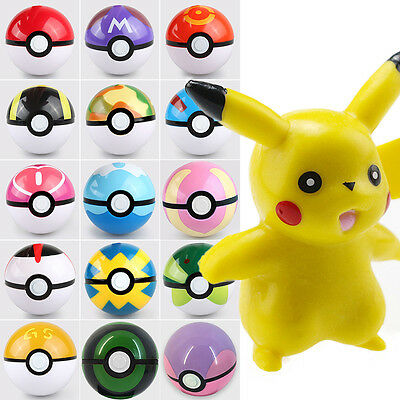 New Fashion Pokeball Pop-up 7cm Ball Toy Action Figures With Pikachu Finger Game