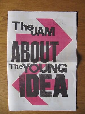 The Jam - Rick Buckler Hand Signed Autograph  - ABOUT THE YOUNG IDEA PAPER