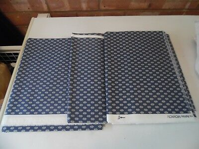 Laura Ashley Vintage Fabric - New Old Stock -  Blue and White from 1994