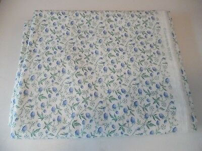 Laura Ashley Vintage Fabric - New Old Stock Fruit Blue Green and White from 1992