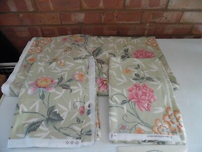 Laura Ashley Vintage Fabric - New Old Stock Flowers Design from 1996