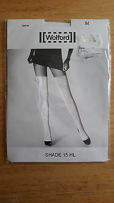 Wolford white stockings Bridal NEW size Medium