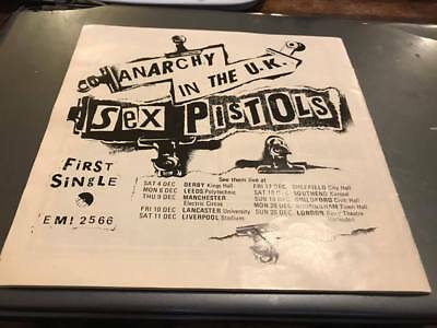 Sex Pistols---First Single-Anarchy In The Uk--Ad In Ipswich Town Prog 1976