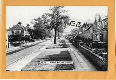 Old Real Photo Postcard Aigburth Hall Road Liverpool Lancashire Frith's Series