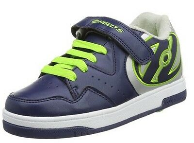 Heelys Hyper Unisex Trainer in Navy/Silver/Green