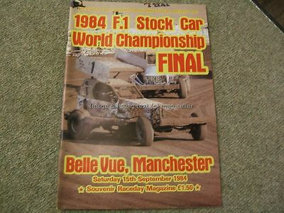 Stock Car Racing Programme BriSCA F1 World Championship Final Belle Vue 1984