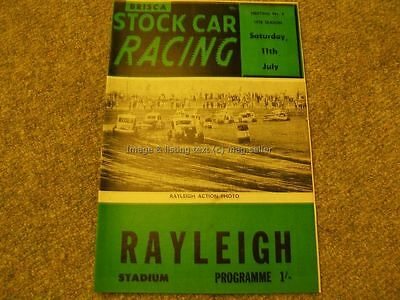 Stock Car Racing Programme BriSCA F2 Rayleigh 11th July 1970 Promotasport