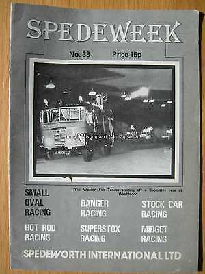 Stock Car Racing Programme Spedeworth Spedeweek No 38 November 1976 Wisbech