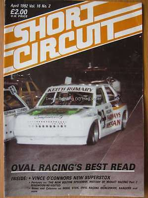Short Circuit magazine April 1992 Stock Car Hot Rod Vince O'Connor Superstox