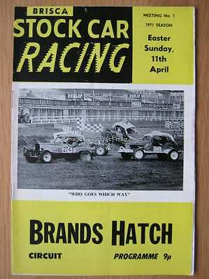 Stock Car Racing Programme Brands Hatch 11 April 1971 Promotasport