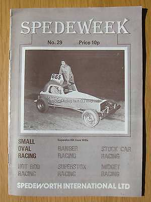 Stock Car Racing Programme Spedeworth Spedeweek No 29 September 1976 Aldershot