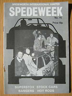 Stock Car Racing Programme Spedeworth Spedeweek No 15 May 1975 Wisbech Ipswich
