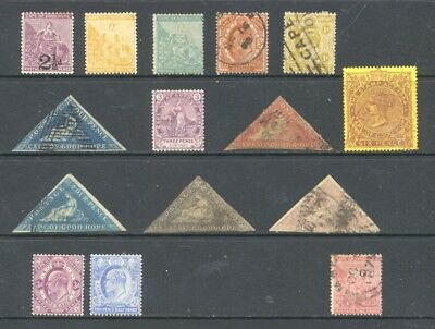SOUTH AFRICA , CAPE of GOOD HOPE , 6 x stamps mounted mint , 9 x fine used , 1 G