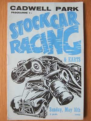 Stock Car Racing Programme Cadwell Park 16 May 1965