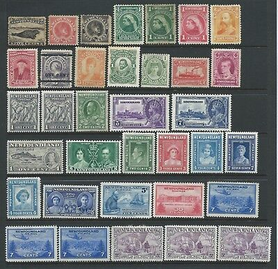 Collection of mounted MINT Canada/Newfoundland stamps.