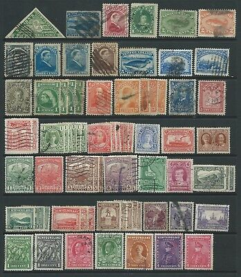 2 scans-Collection of mostly good used Canada/Newfoundland stamps.