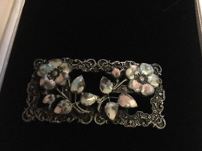 Vintage 1970'S Enamelled Clasp  Belt Buckle