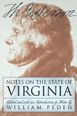 NEW Notes On The State Of Virginia by Jefferson Thomas BOOK (Paperback)