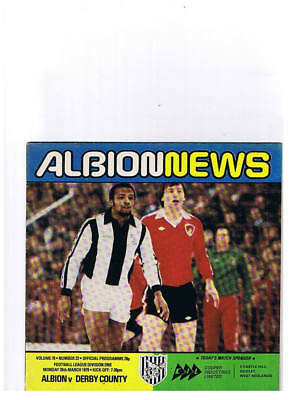 West Bromich Albion v Derby County Div 1 March 1979