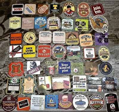 Collection Of 250 +  Beer Mats / Costers     All Different.