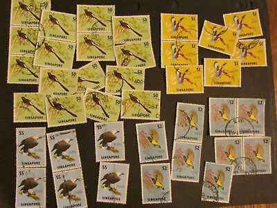 Singapore birds higher values to $5 collection  1