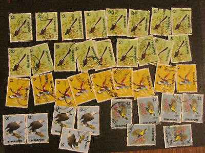 Singapore birds higher values to $5 collection  2