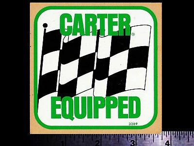 CARTER Equipped - Original Vintage 1960's 70's Racing Decal/Sticker