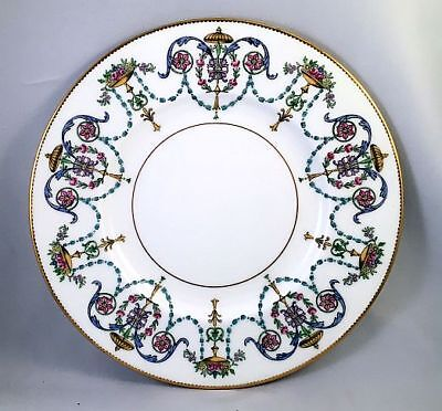 9 Rare 1843 Mintons Luncheon Plates w/ Enameled Baskets &Swags H3194 (PA9984)