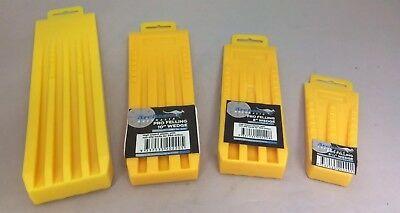 """(4) Archer Tree Felling Falling Wedges Yellow Set 5-1/2"""" 8"""" 10"""" 12"""" ABS Plastic"""