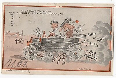 1916~Cobb X Shinn Artist Signed~FORD Model T Auto~Commercial Colortype COMIC