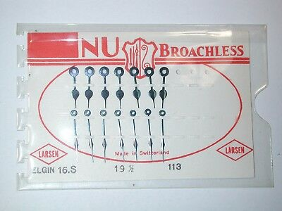 "Elgin 16 Size NOS ""NU BROACHLESS"" 7 Sets of P.W. Railroad Hands. 14M"