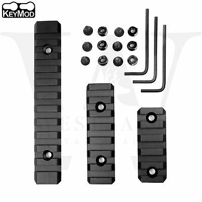 "Keymod Picatinny Weaver Rail Section Aluminum 5 7 13 Slot 2"" 3"" 5"" - Pick QTY"