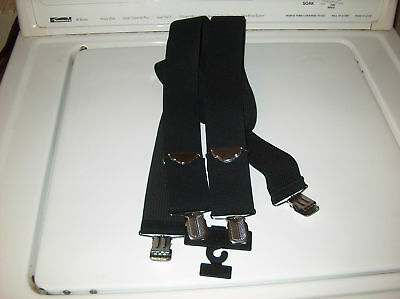 "Men's Black Work Style Suspenders 2"" Clip Style FREE SHIPPING"