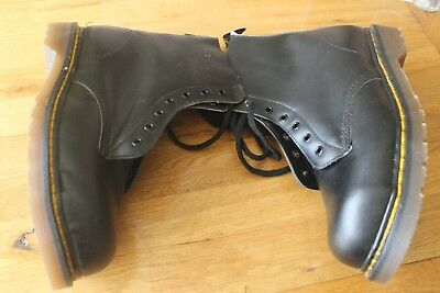 Mens Black Dr. Martins The Original Airwear Safety Boots Size 11 Made in Eng.