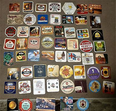 Collection Of 125 Belgian Beer Mats/coasters  No.4   All Different
