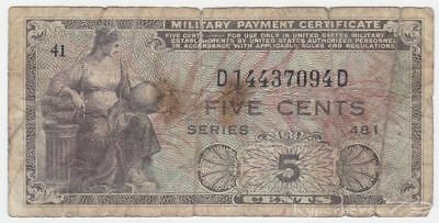 United States P M22 - 5 Cents 1951 Series 481