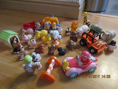 ELC Happyland Bundle, Zoo Animals, Farm Animals, Figures + Cars! Wow!