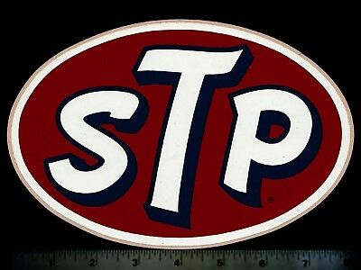 STP - Original Vintage 1960's 70's Racing Decal/Sticker - Large 8 Inch Size
