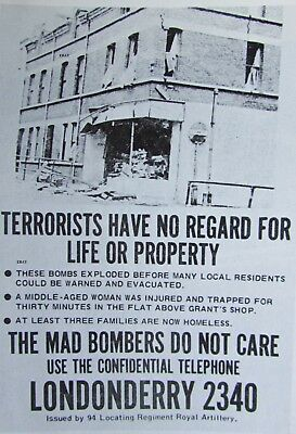 New A4 Print Northern Ireland Security Poster 1970's Londonderry Royal Artillery