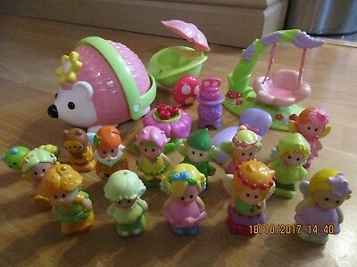 ELC Happyland Bundle, Wobble Hedgehog, Fairy Swing + Fairies Figures etc! Wow!