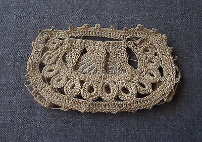 Antique Victorian Crocheted Lace Miniature Purse Bag For Dolls