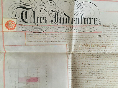 1879 Indenture Lease of Premises No. 59 Crayford Rd, Islington - Clarkson, Lown