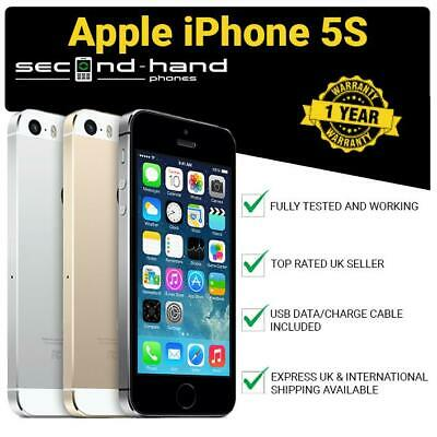 Apple iPhone 5S - 16GB 32GB 64GB - Gold/Silver/Space Grey - (UNLOCKED/SIM FREE)