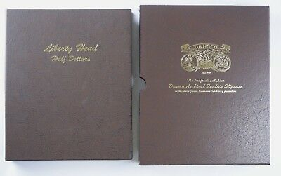 Dansco Liberty Head Half Dollars Album #7150 NO RSV 73 Coins Silver Barber