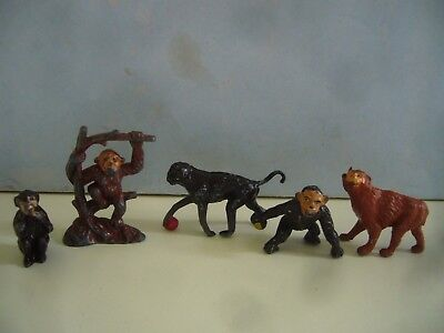 Vintage Lead Zoo Animals Monkey Chimp Etc By Taylor & Barrett Charbens & Timpo