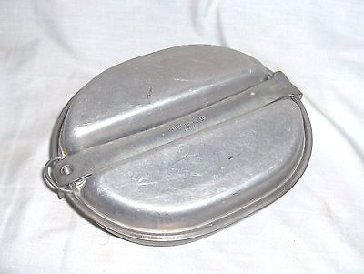 Ms639 - Wwii Military Issue 2-Piece Mess Kit, Pan And 2-Side Plate - 1945