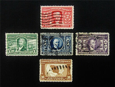 nystamps US Stamp # 323-327 Used $92