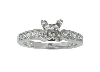 0.77 Ct. TW Round Diamond Accented Engagement Semi Mounting