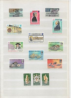 Virgin Islands 4 Sets 1972 - 1978 All Mint And Mounted