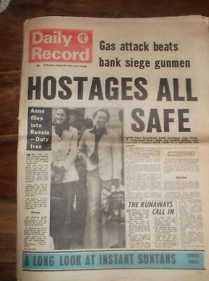 Daily Record August 29Th 1973